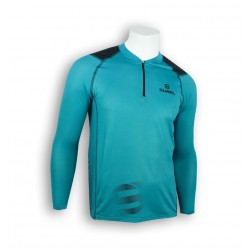T-SHIRT RUNNING COOLPLUS LONG SLEEVE ZIP TYPHOON