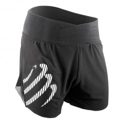 Pantalón corto Compressport Racing Overshort negro