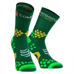 Calcetines Compressport ProRacing Socks v2.1 Trail Hi Verde