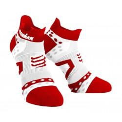 Calcetines Compressport IronMan Low Ultra Rojo