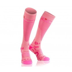 Calcetines Compressport FullSocks V2.1 Rosa