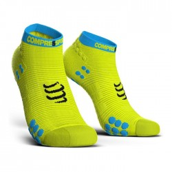 Calcetines Compressport ProRacing Socks Run low V3 Amarillo fluor