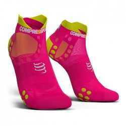 Calcetines Compressport ProRacing Socks Run low V3 Rosa fluor