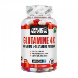 GLUTAMINE 4K APPLIED NUTRITION, 120 CÁPSULAS
