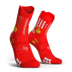 Calcetines Compressport ProRacing Socks v3.0 Trail Rojo