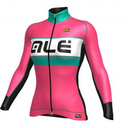 Maillot ciclismo mujer Alé PRR Bering rosa