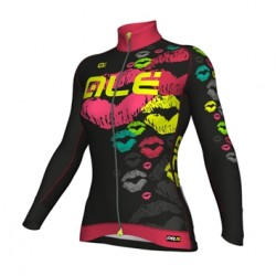 Millot ciclismo mujer Alé PRR Smack negro y rosa