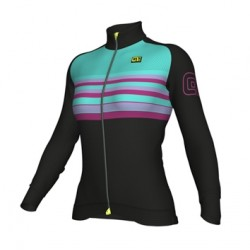 Maillot ciclismo mujer Alé PRR Stripe Turquesa