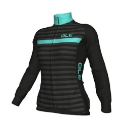 Maillot ciclismo mujer Alé Excel Solid Riviera negro turquesa