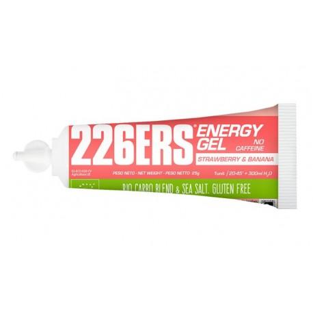 GEL ENERGETICO BIO 25gr FRESA Y PLATANO 226ERS ENERGY GEL BIO - SIN CAFEINA