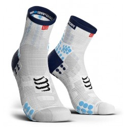 Calcetines Compressport Bike V3 Blanco Azul
