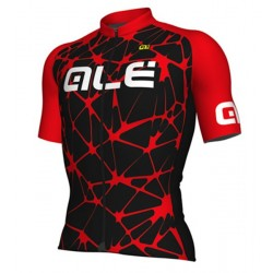 Maillot ciclismo Alé corto Excel Cracle Negro Rojo