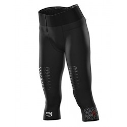 Mallas Compressport Piratas Mujer Trail Running 3/4 Under Control Negro