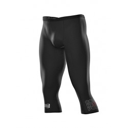Mallas Compressport Running Piratas 3/4 Under Control Negro
