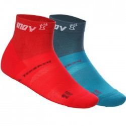 Calcetines INOV-8 Pack2 All Terrain Sock Mid Rojo Azul