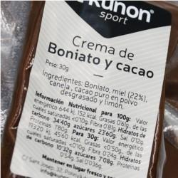 Crema energética natural de boniato y cacao Kunon