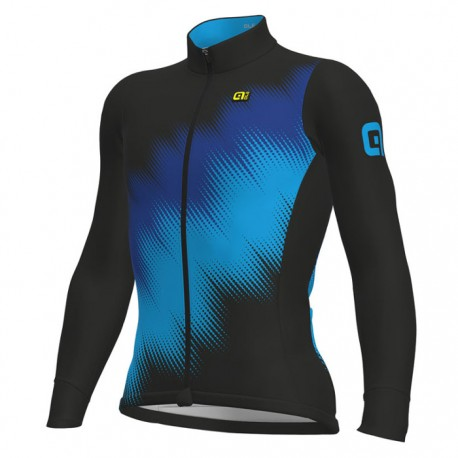 Maillot ciclismo Alé Solid Pulse Negro Azul