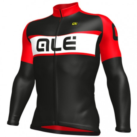 Maillot ciclismo Alé Excel Weddell Negro Rojo