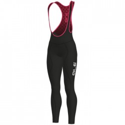 Culote ciclismo mujer Alé Solid Winter Negro Rosa