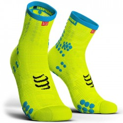 Calcetines Compressport ProRacing Socks Run high V3 Amarillo fluor
