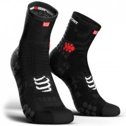 Calcetines Compressport ProRacing Socks Run high V3 Negro