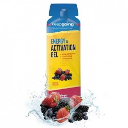 Gel energético Keepgoing Energy y Activation con amilopectina sabor berries