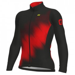 Maillot ciclismo Alé Solid Pulse Negro Rojo