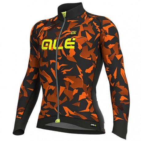 Maillot ciclismo Alé PRR Glass Naranja Negro