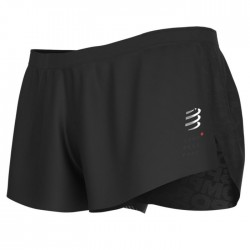 Pantalón corto Compressport Racing Split Short Negro