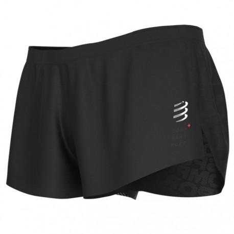 Pantalón corto Compressport Racing Split Short Negro