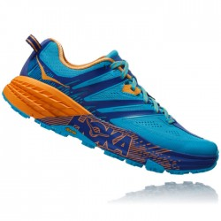 Zapatillas Hoka Speedgoat 3 Mujer Azul Naranja