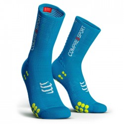 Calcetines Compressport ProRacing Socks Bike V3 Azul