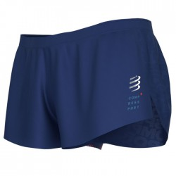 Pantalón corto Compressport Racing Split Short Azul