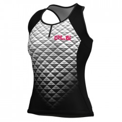 Maillot ciclismo mujer Alé Top Excel Hexa Negro Blanco