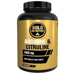 Arginina y Citrulina Gold Nutrition 100 cápsulas