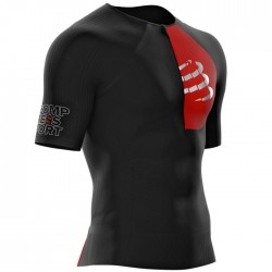 Camiseta Triatlón Compressport Postural Aero Top Negro