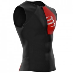 Camiseta Triatlón Compressport Postural Tank Top Negro