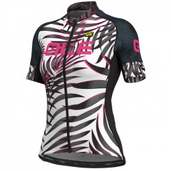 Maillot ciclismo mujer Alé corto PRR Sunset Blanco