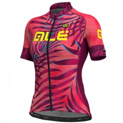 Maillot ciclismo mujer Alé corto PRR Sunset Rosa