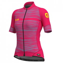 Maillot ciclismo mujer Alé corto PRR The End Rosa