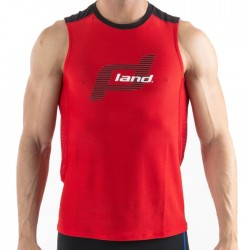 Camiseta Land Plus Trail Rojo sin mangas
