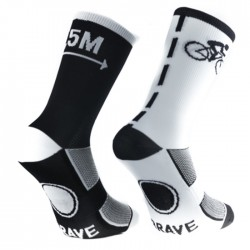 Calcetines Brave 1,5 Respect Blanco Negro