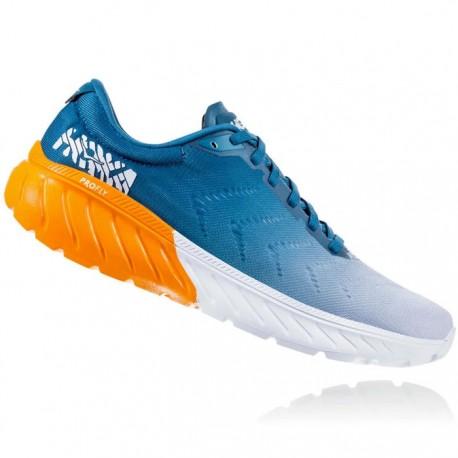 Zapatillas Hoka Mach 2 Azul Naranja