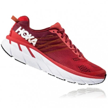 Zapatillas Hoka Clifton 6 Rojo