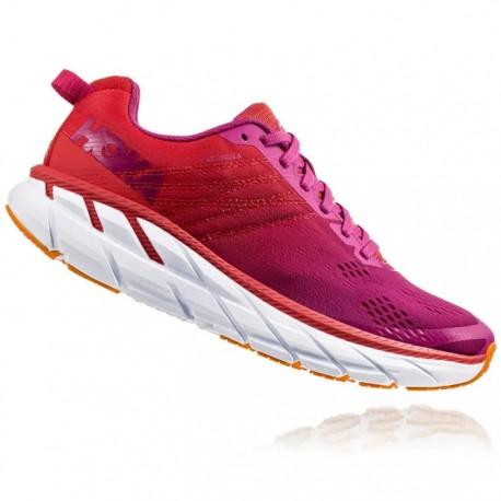Zapatillas Hoka Clifton 6 Mujer Rojo Rosa