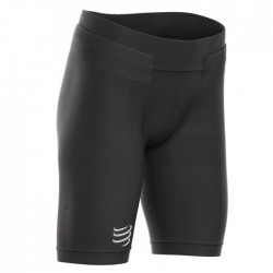 Mallas Compressport Trail Run Mujer Under Control Negro