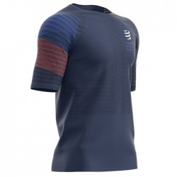Camiseta Compressport Racing SS Azul