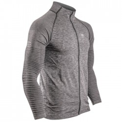 Sudadera Compressport Seamless Zip Gris