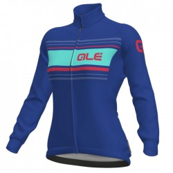 Maillot ciclismo mujer Alé Solid Sinuosa Azul