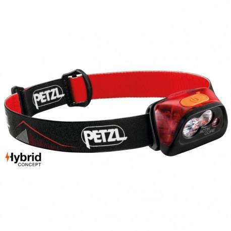 Linterna frontal Actik Core Petzl 450 lúmenes roja